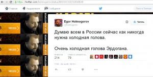 Twitter русского политического деятеля, националиста Егора Холмогорова