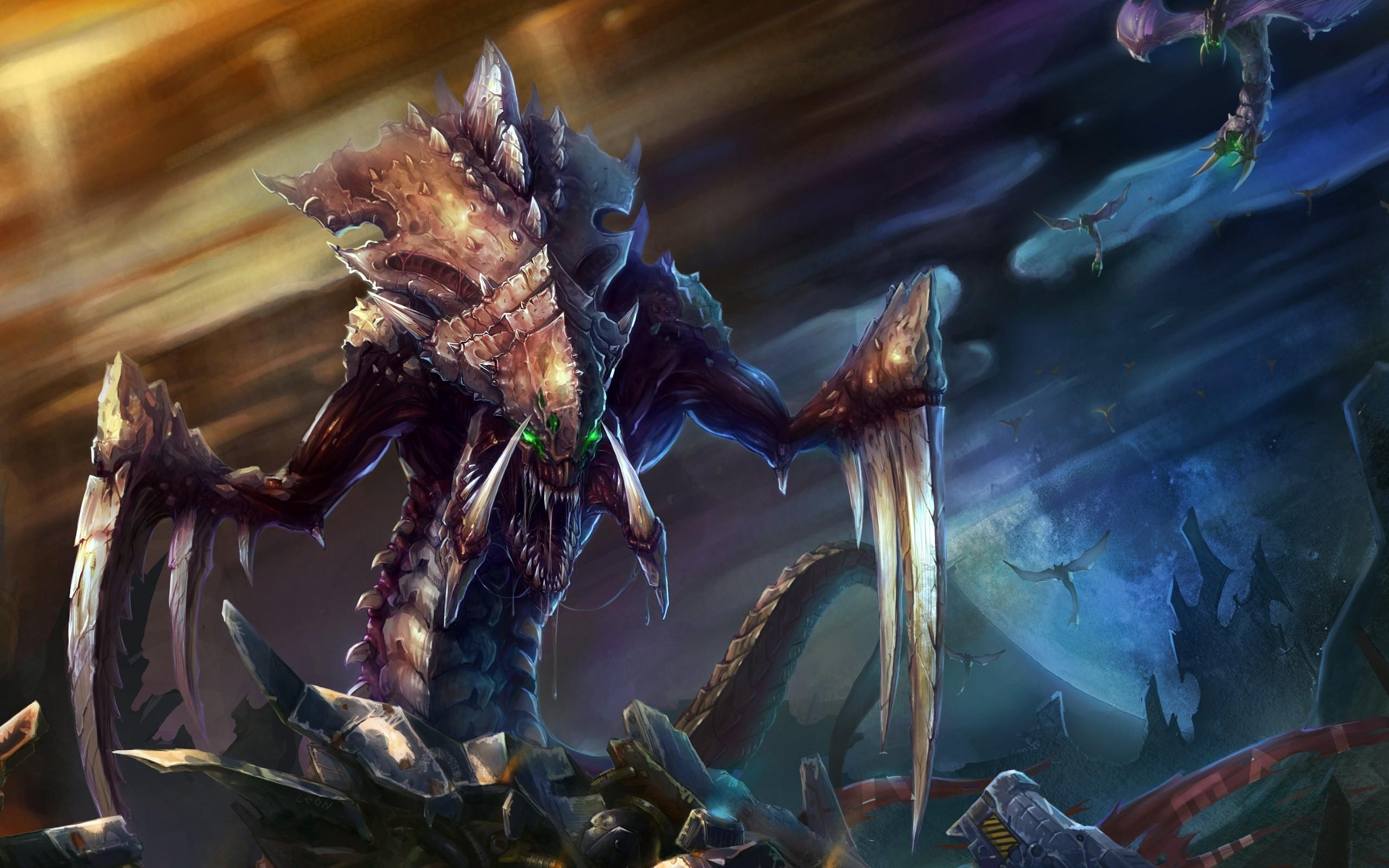 Гидралиск расы зергов в Starcraft