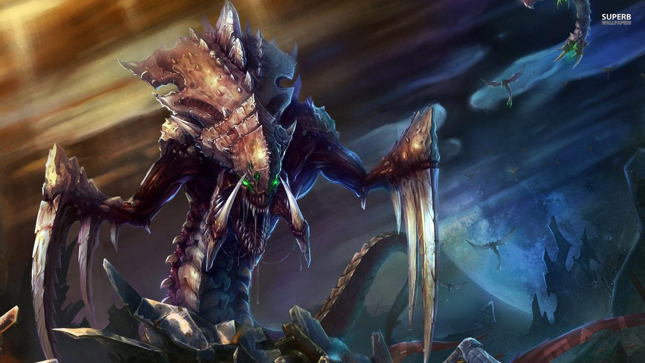Зерг из Starcraft - Гидралиск, похож на Чужого