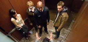 Застрявшие в лифте герои фильма Дьявол