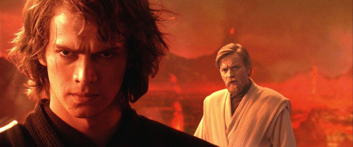 Дарт Вейдер и Оби-Ван перед их первой дуэлью