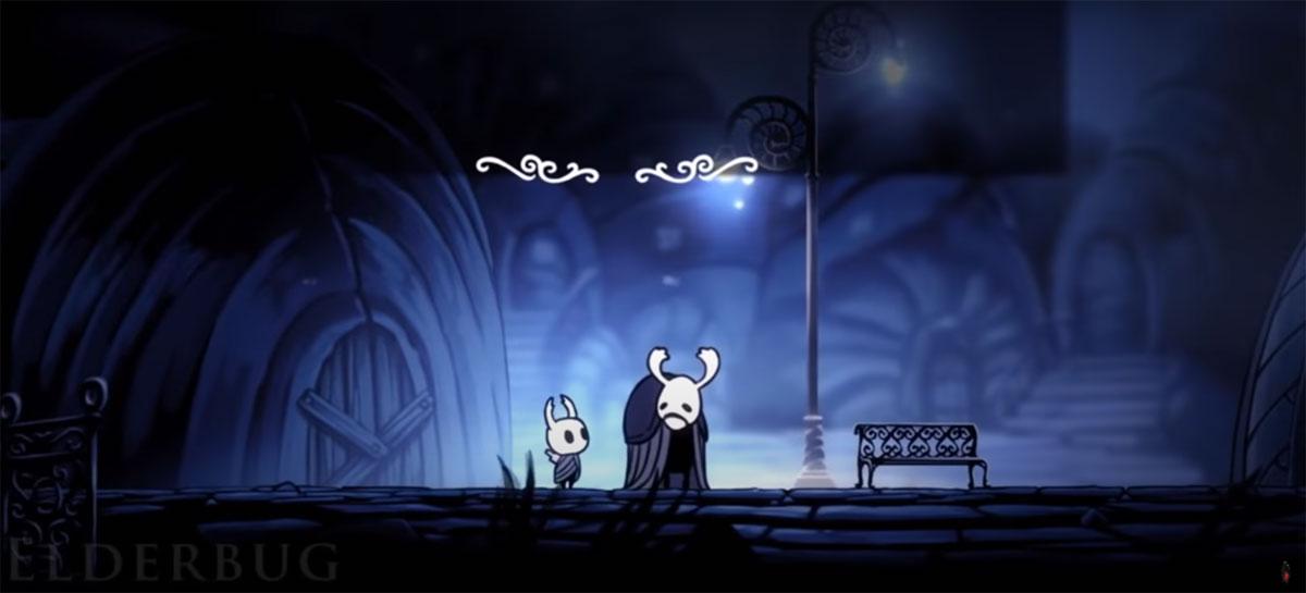 Встреча со старейшиной в Hollow Knight
