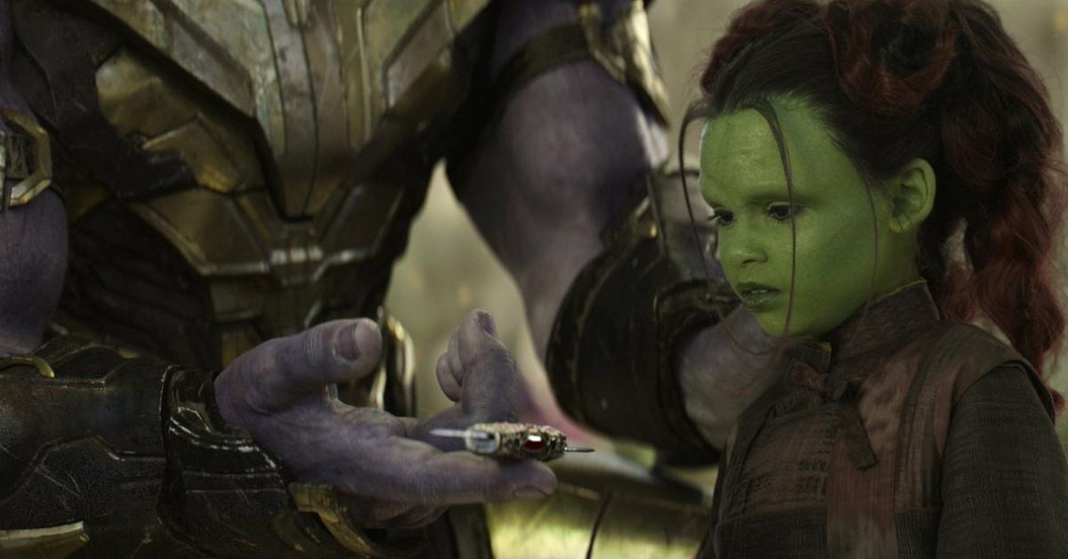 Танос и Гамора будучи ребенком