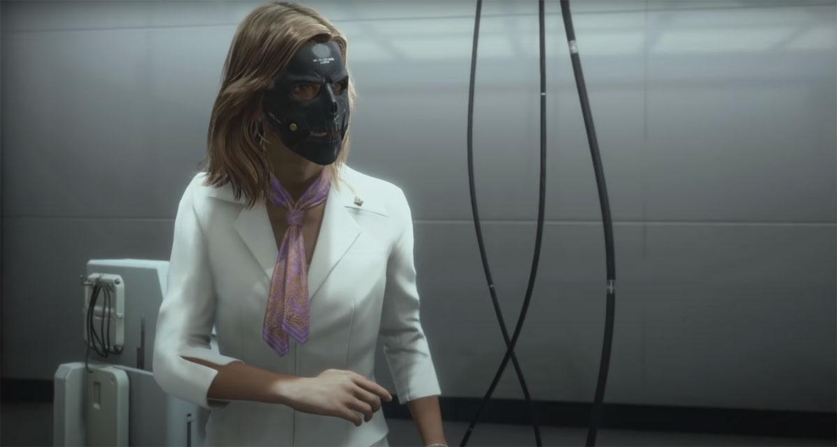 Бриджет в маске - чтобы поддержать легенду о дочери