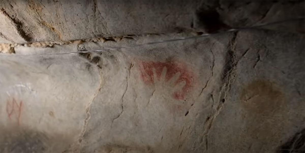 Наскальная живопись - изображение руки
