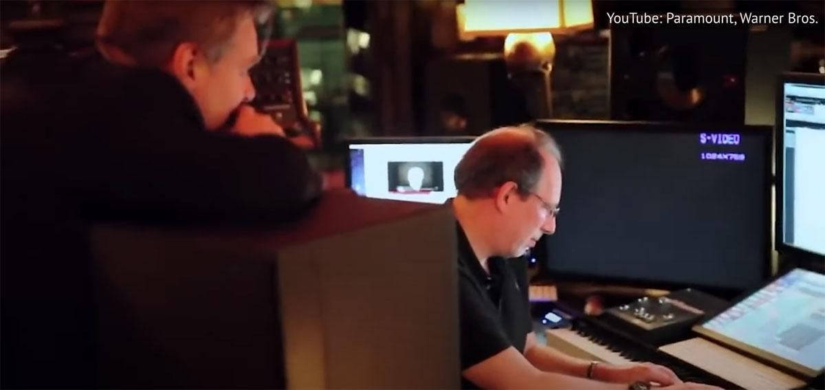 Ханс Циммер и Кристофер Нолан за работой над саундтрэком к фильму Интерстеллар