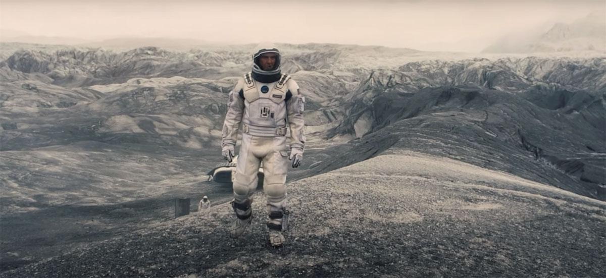 Действия фильма Интерстеллар на далекой планете, снятые на леднике