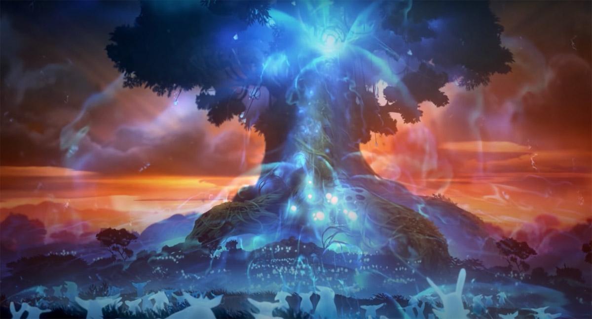 Древо Духов создает Церемонию Света, на которой собирает всех Защитных Духов, чтобы найти Ори