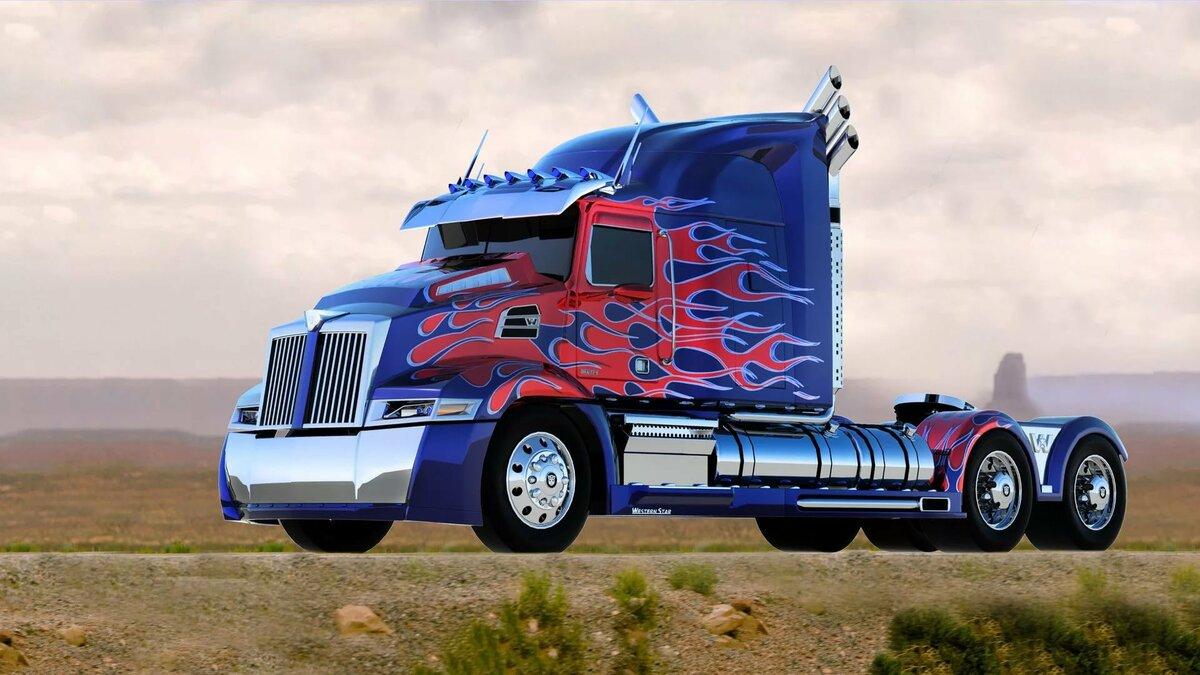 Оптимус Прайм в своей альтернативной форме - мощный грузовик
