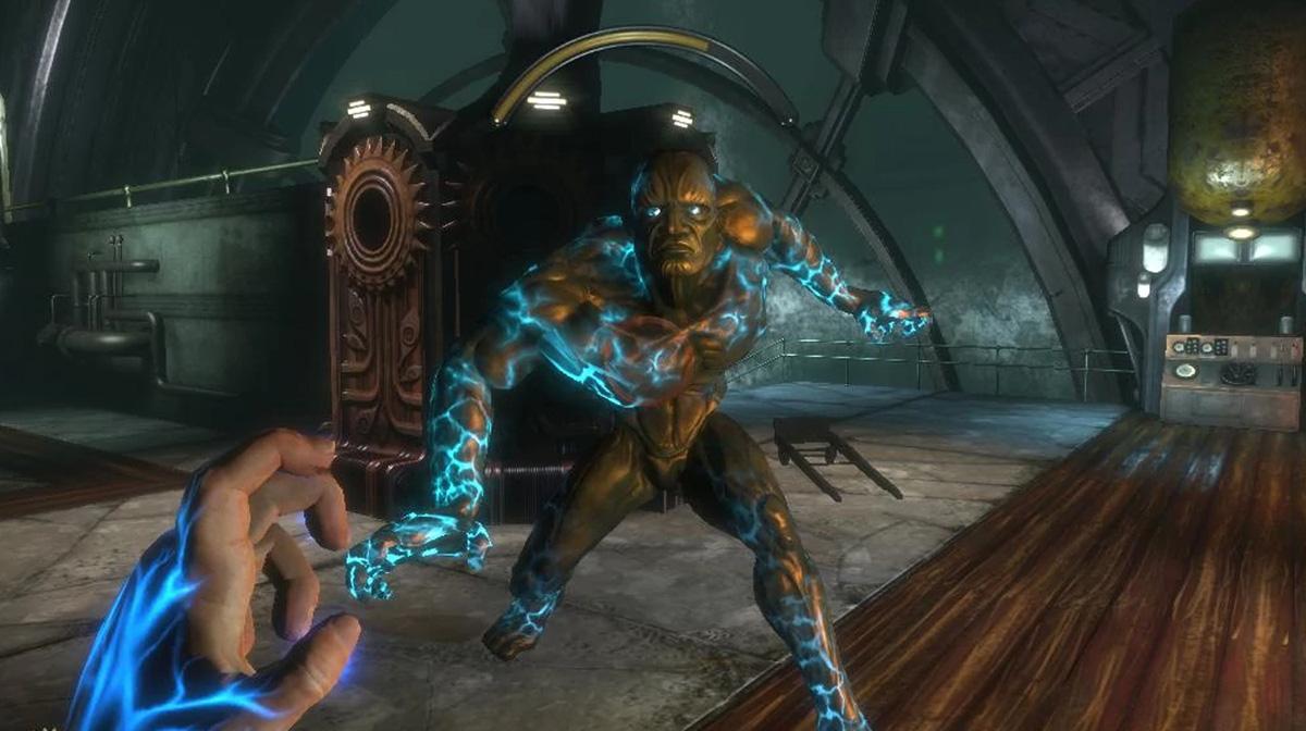 Фонтейн на плазмидах - последняя битва Bioshock