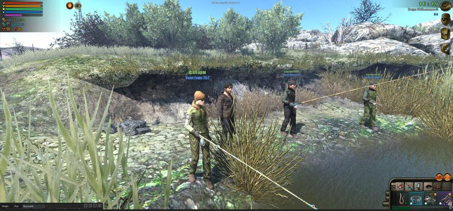 Игра о рыбалке Atom Fishing 2