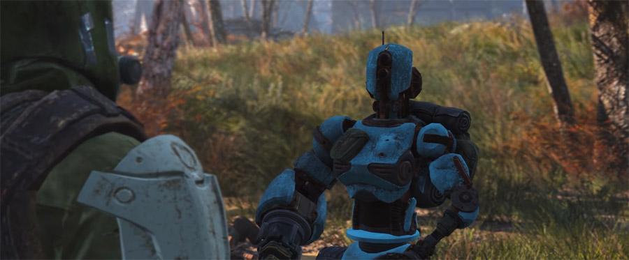 Выживший разговаривает с роботом Адой в DLC Automatron Fallout 4