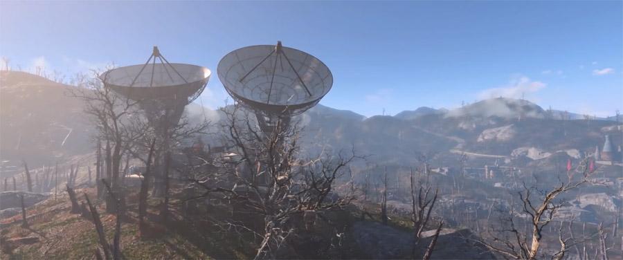 Спутниковая антенна базы Форта-Хаген в DLC Automatron Fallout 4
