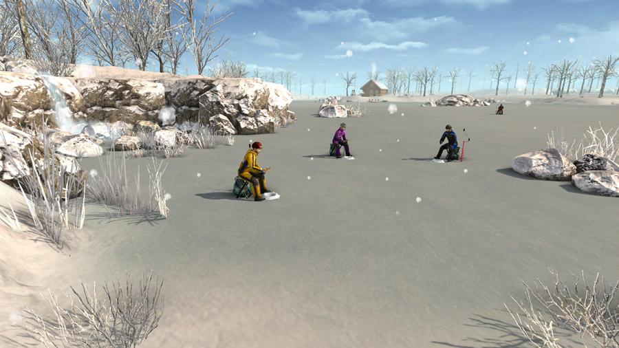 Компьютерная игра симулятор зимней рыбалки: Ice Lakes