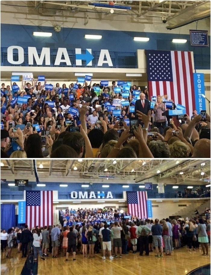 Предвыборная встреча в Омахе