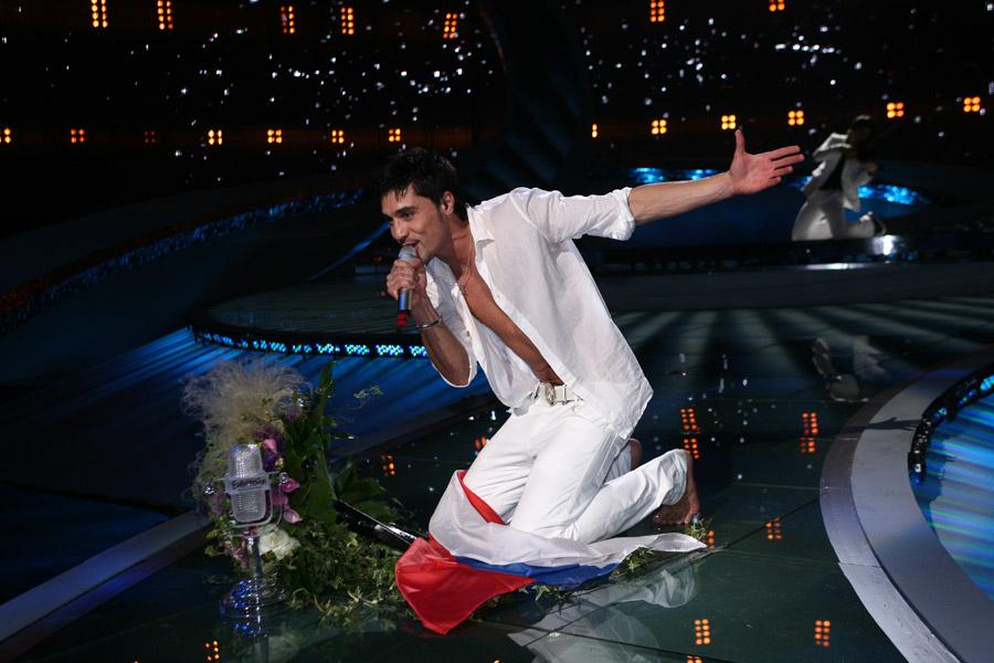 Второе выступление Димы Билана на Евровидении, где он занял первое место