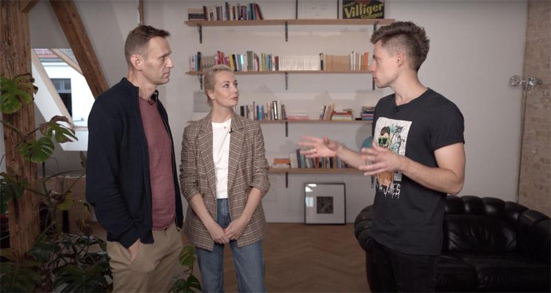 Юрий Дудь берет интервью у Навального