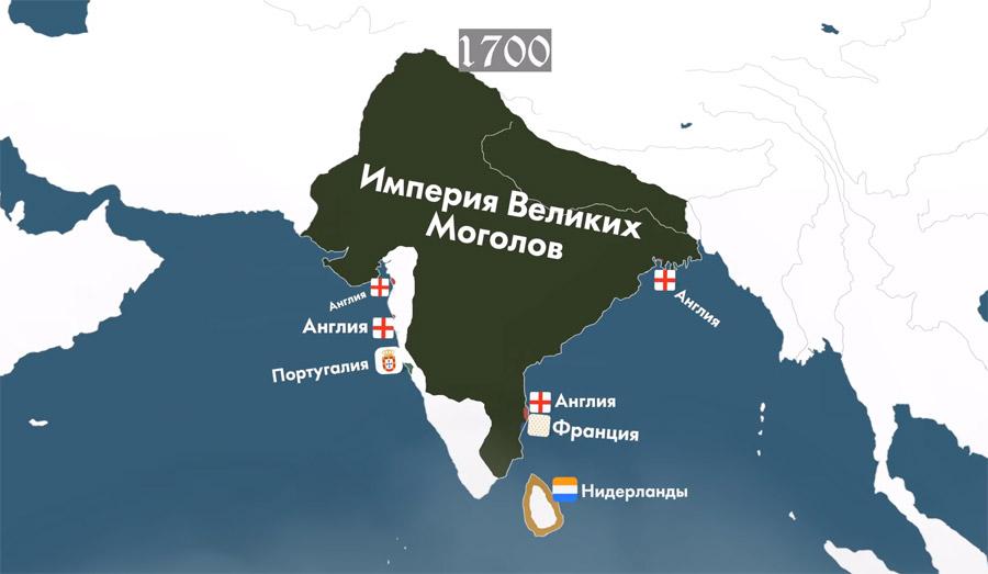 Империя Моголов на карте