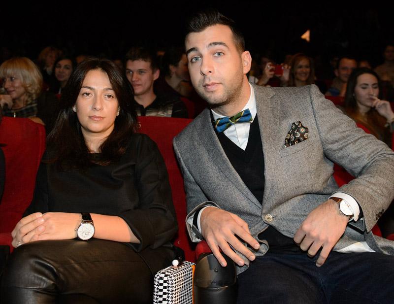 Иван Ургант со своей второй женой Натальей Кикнадзе