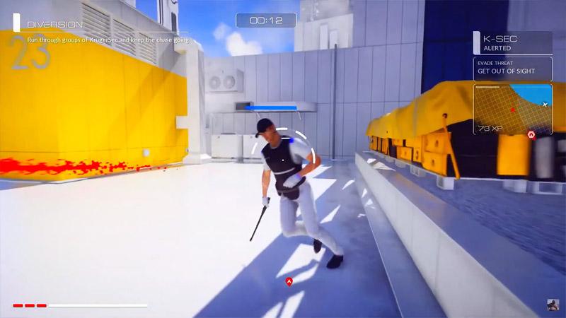 Скриншот игрового процесса игры про паркур: Mirror's Edge