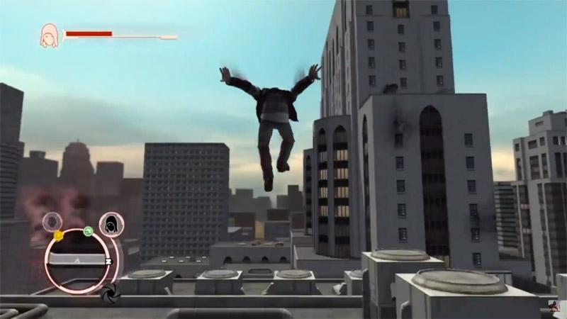 Скриншот игрового процесса игры про паркур: Prototype