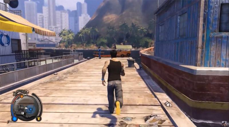 Скриншот игрового процесса игры про паркур: Sleeping Dogs